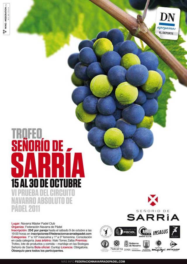 Cartel Sarria Señorio de Sarria - 6ª Prueba Circuito Navarro Absoluto 2011.