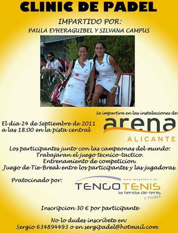 paula silvana padelgood Clinic de Paula Eyheraguibel y Silvana Campus en el Club Arena Alicante.