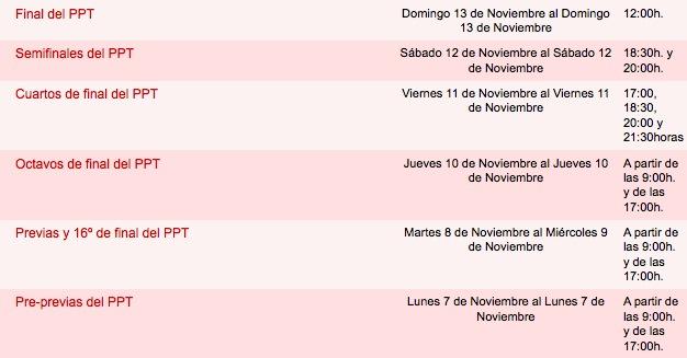 calendario ppt Bakh padelgood III Internacional Ciudad de Vitoria-Gasteiz