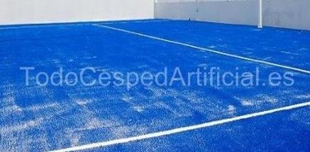 Cesped artificial azul pista La vanguardia y el mejor producto en Césped Artificial, con la empresa TodoCespedArtificial