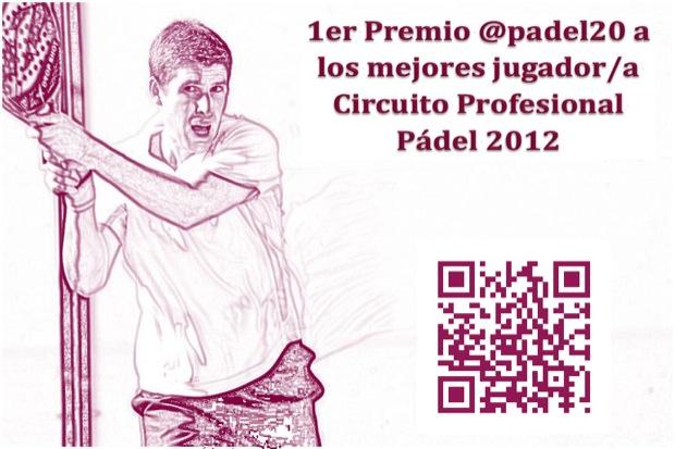 Portada @Padel20 1er Premio @padel20 a los mejores jugador/a Circuito Pro. #padel 2012