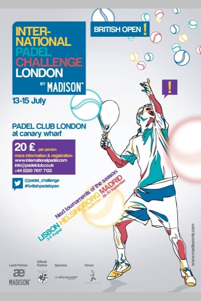 "British Open Madison Cartel e Info del ""British Open"" el #padel pasa fronteras!! by @Padel_Challence @madison_mk"