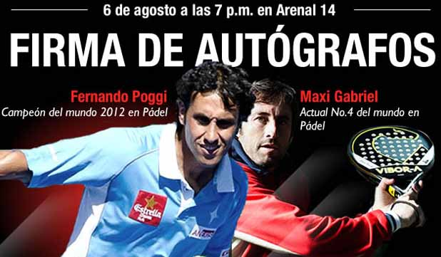 maxi poggi Firma de autografos de @FernandoPoggi y Maxi Grabiel en GNC de Arenal 14, Madrid