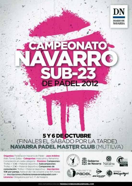 cartelsub23web Campeonato Navarro Sub-23 de #Padel