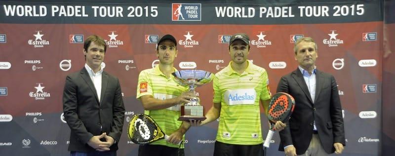 Fernando Belasteguin y Pablo Lima, vencedores del World Padel Tour de Sevilla
