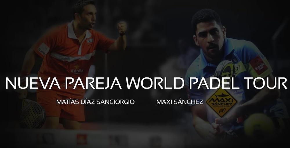 Maxi Sánchez - Matías Díaz, nueva pareja World Padel Tour 2016