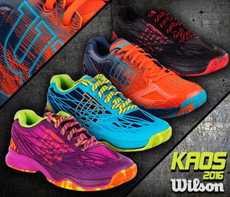 Wilson trae el Kaos con su colección de zapatillas de pádel 2016