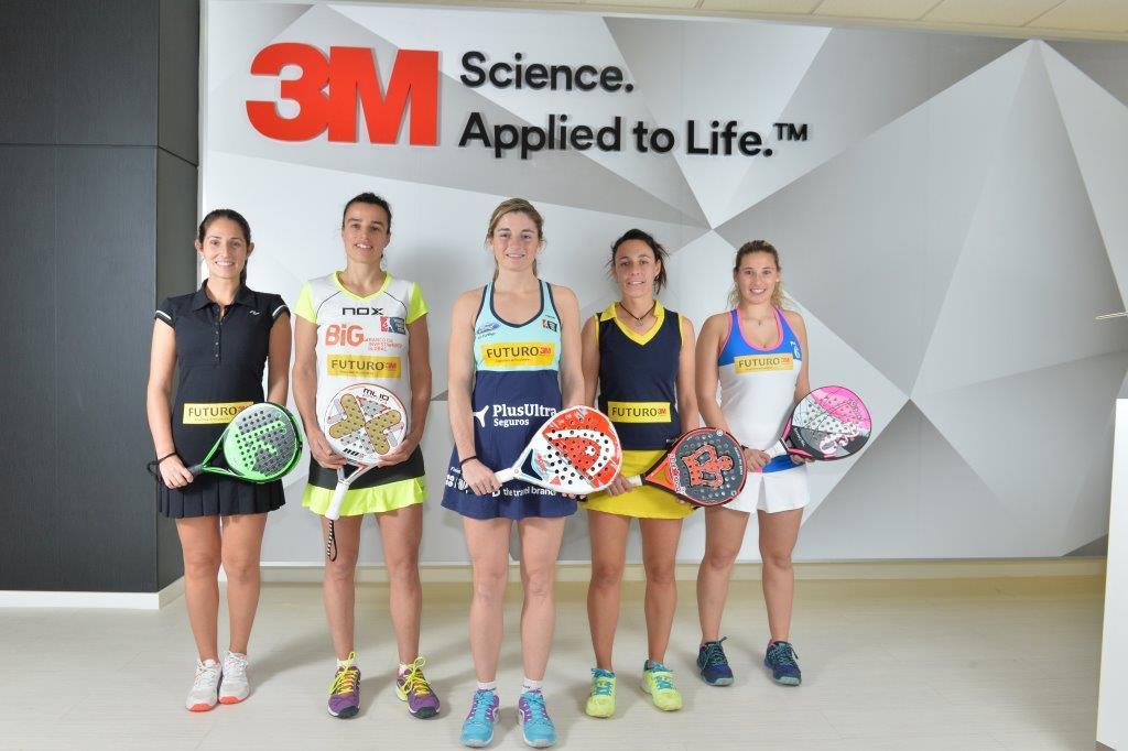 3M presenta el equipo FUTURO de pádel femenino