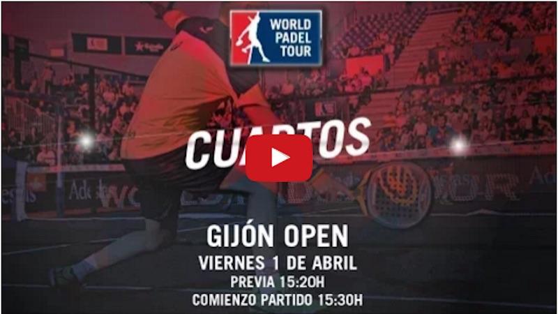 Cuartos de final World Padel Tour Gijón 2016 en directo
