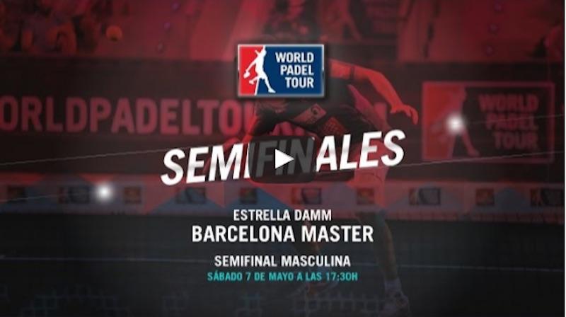 Semifinales masculinas Máster World Padel Tour Barcelona 2016 en directo