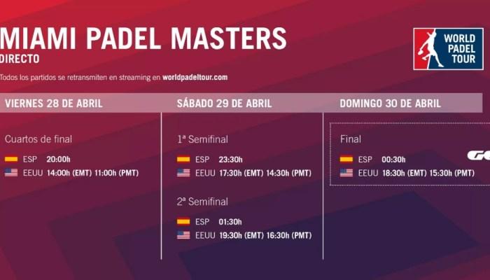Cuartos de final en directo World Padel Tour Miami Padel Masters 2017