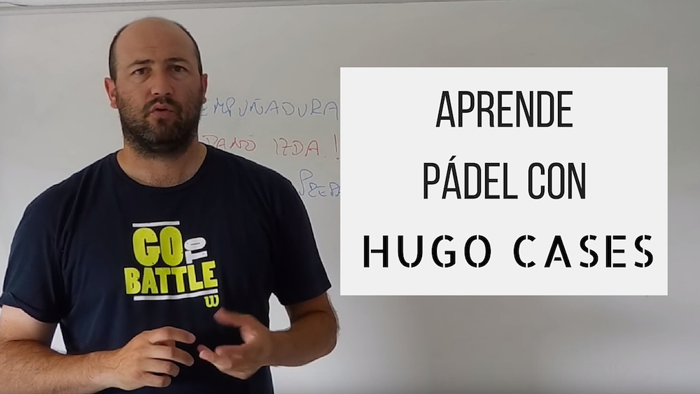 Aprende Padel Hugo Cases. Identificación de errores. Revés de fondo sin pared