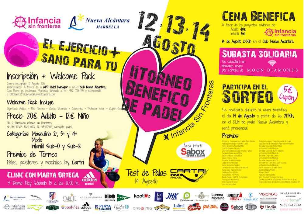 II Torneo Benéfico de Pádel a favor de Infancia sin Fronteras