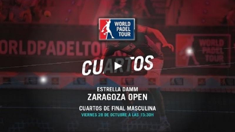 Cuartos World Padel Tour Zaragoza 2016 en directo y online