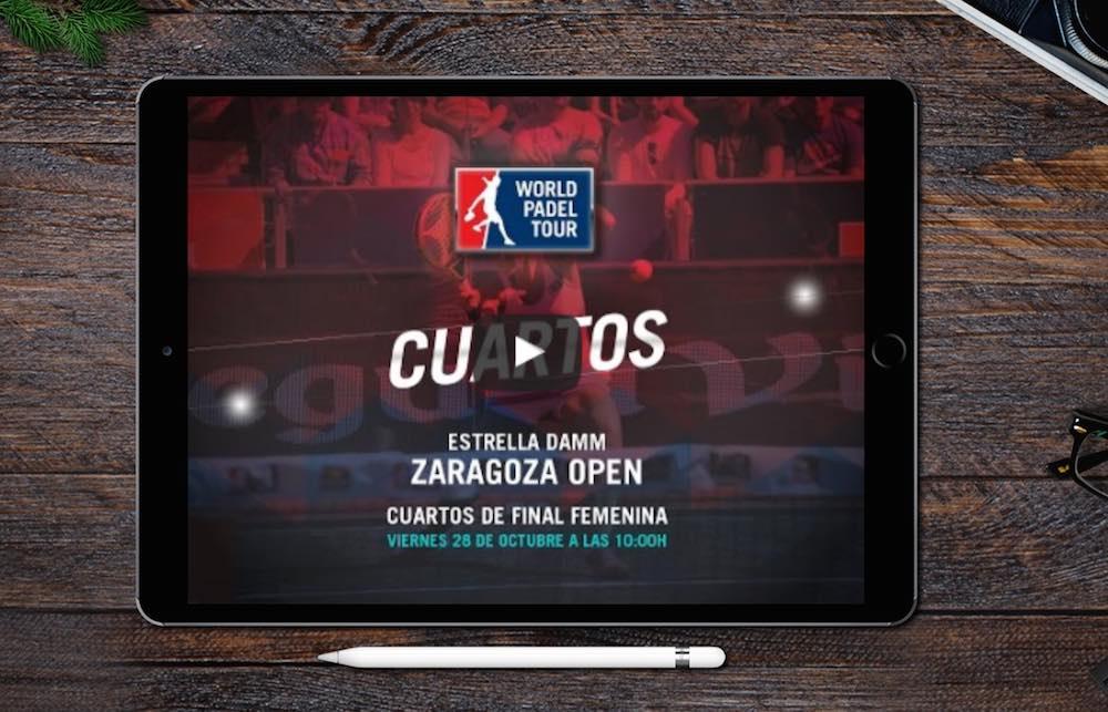 En directo Cuartos femeninos online World Padel Tour Zaragoza