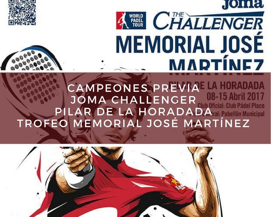 Campeones Previa Memorial 2017 Campeones Previa Memorial José Martínez Challenger 2017