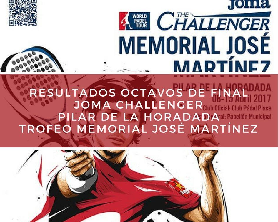 Resultados Octavos memorial 2017 Resultados octavos de final Memorial José Martínez Challenger 2017