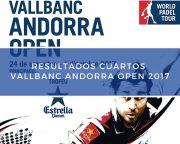 Resultados cuartos de final World Padel Tour Andorra 2017