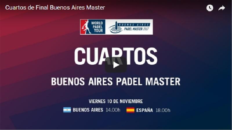 Cuartos online WPT Buenos Aires 2017 Resultados cuartos de final Máster World Padel Tour Buenos Aires 2017
