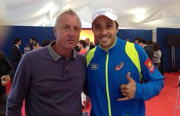 Johan Cruyff y Fernando Belasteguín en el Estrella Damm Barcelona Open