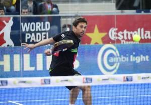Matías Díaz, en acción en el Estrella Damm Barcelona Open
