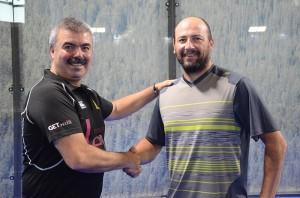 Adrián Caviglia y Hugo Caees