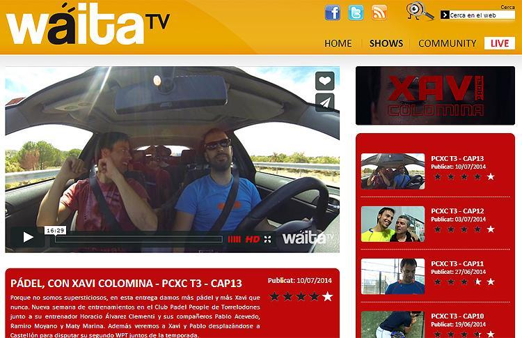 Capítulo 13 del Programa de Xavi Colomina en Waita TV