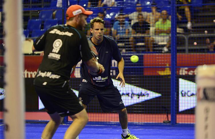 Aday Santana y Jordi Muñoz, en el Estrella Damm Tenerife Open