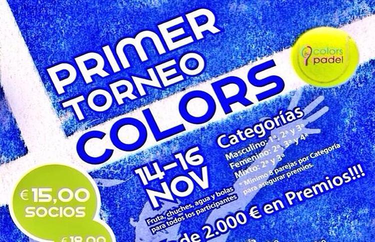 Cartel del I Torneo Colors