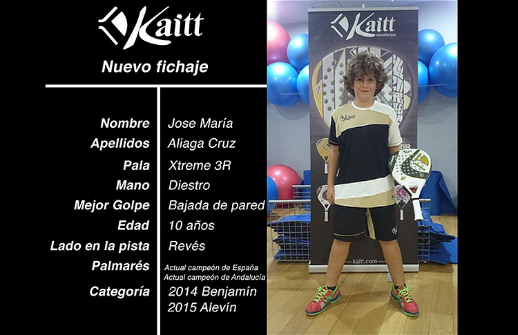 Nuevo fichaje del equipo Kaitt Excellence
