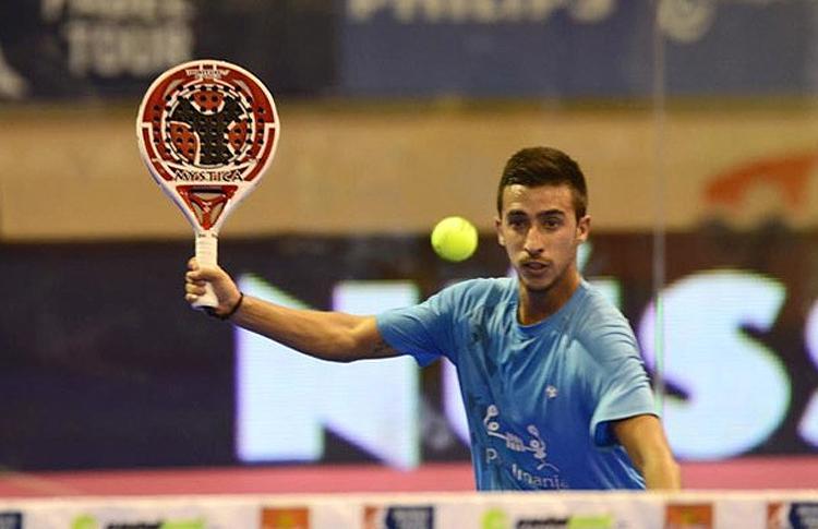 Álvaro Cepero, en acción en el Estrella Damm San Fernando Open