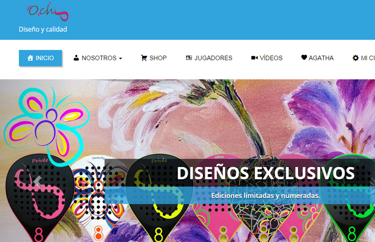 OchoPádel nos presenta su nueva página web