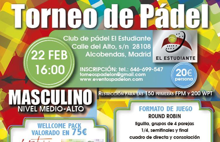 Cartel del Torneo que organizará Padelon en El Estudiante