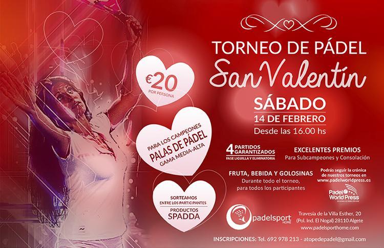 Torneo de San Valentín de A Tope de Pádel en Sport Home
