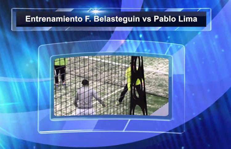 Entrenamiento de Pablo Lima y Fernando Belasteguín con Miguel Sciorilli