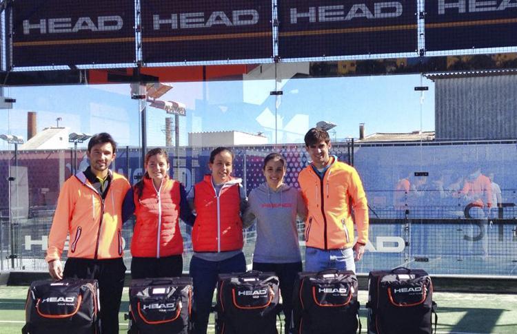 Encuentro en Barcelona de los integrantes del HEAD Pádel Rebels