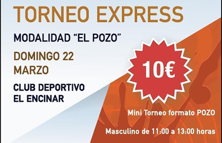 Torneo Expréss que organizará Time2Pádel en El Encinar