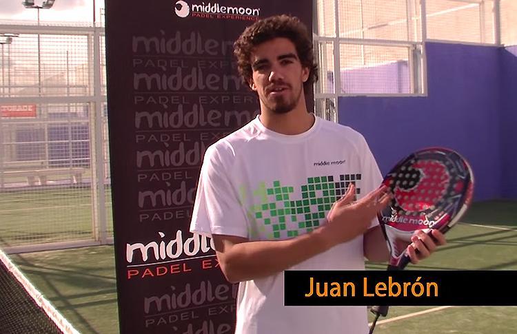 Juan Lebrón y su nueva pala: Eclipse 3 Carbon (Middle Moon)