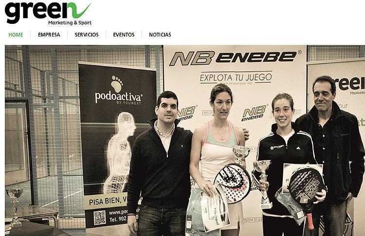 Green Sponsor, una de las empresas organizadoras de la I Copa de Pádel Madrid