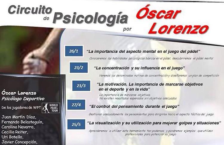 Llega la quinta parada del Circuito de Psicología dirigido por Óscar Lorenzo