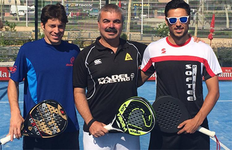 Adrián Caviglia, junto a Chnico Gomes y Pablo Lijó