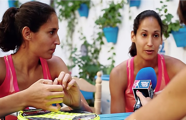 Mapi y Majo Sánchez Alayeto, entrevistadas en World Pádel Tour