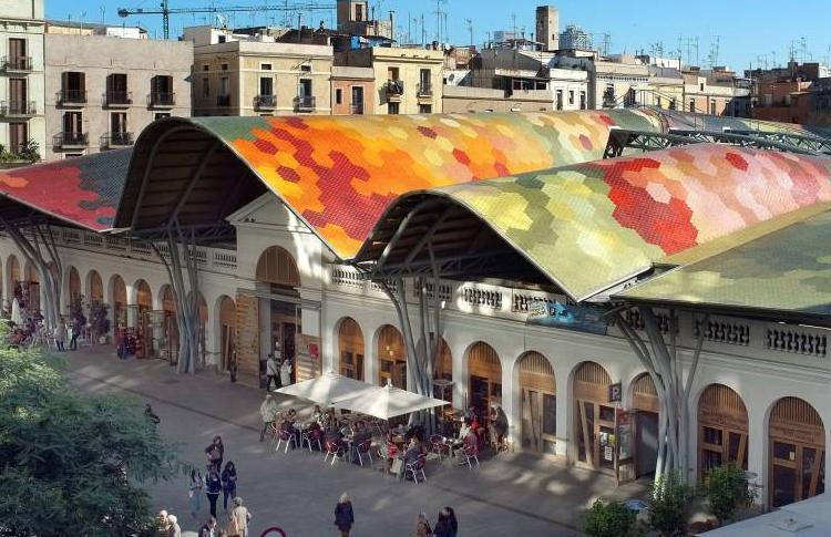 Mercado de Santa Catarina en Barcelona