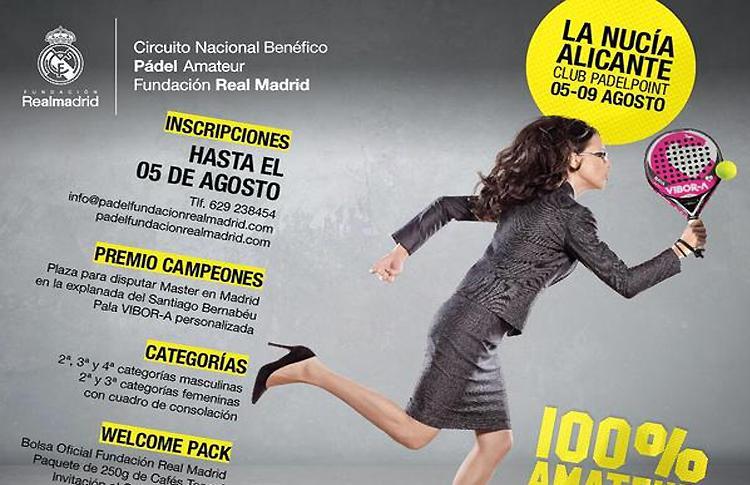 Cartel de la Segunda Prueba del Circuito de la Fundación Real Madrid