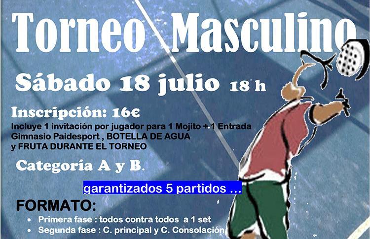 Cartel del Torneo Masculino que se organizará en La Solana