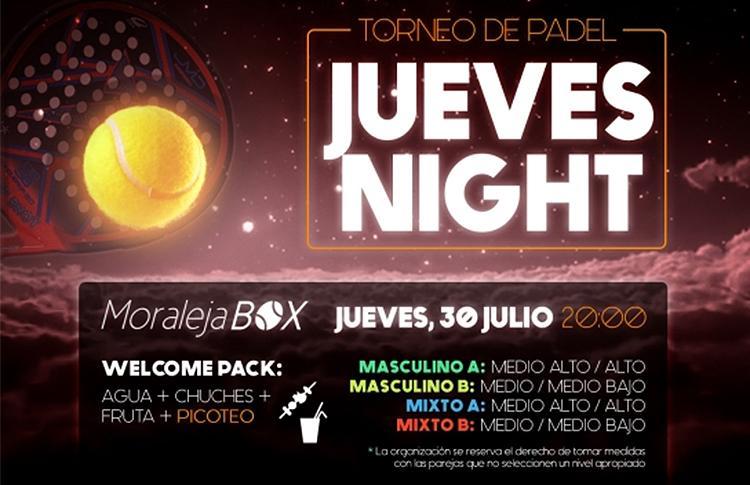 Cartel del Torneo que Time2Pádel organizará en las pistas de Moraleja Box