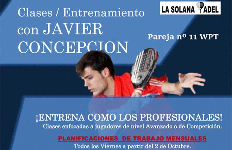 Clases de Javier Concepción en el Club La Solana