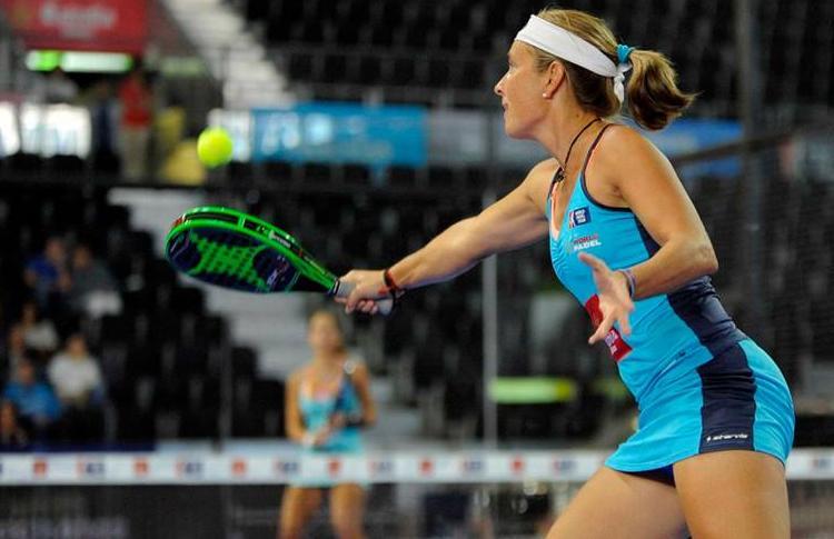 Carolina Navarro, en el Estrella Damm Madrid Open