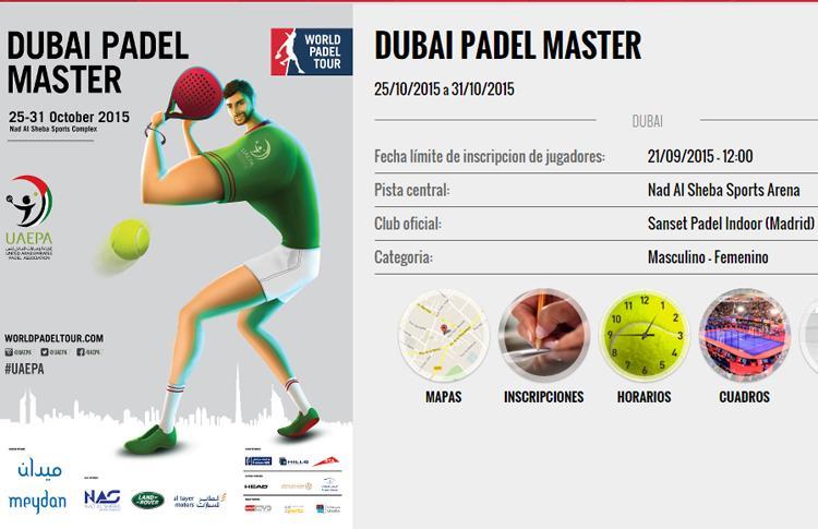 Todos los cruces y horarios del Dubai Padel Master