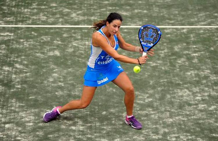 Marta Marrero, en acción en el Galicia Open